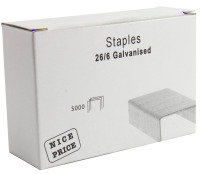 Extra Value 26/6 Staples - 5000 Pack