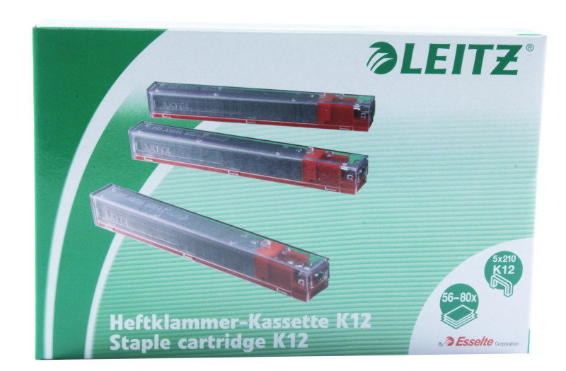 Stapler Heavyduty Cart 12mm Red 55940000 - 5 Pack
