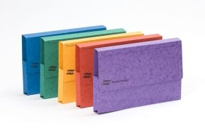 *Europa Pocket Wallet Foolscap Assorted Colour- Pack of 25