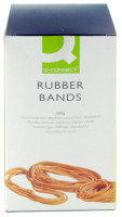 Q CONNECT RUBBER BANDS 500G ASSORTED