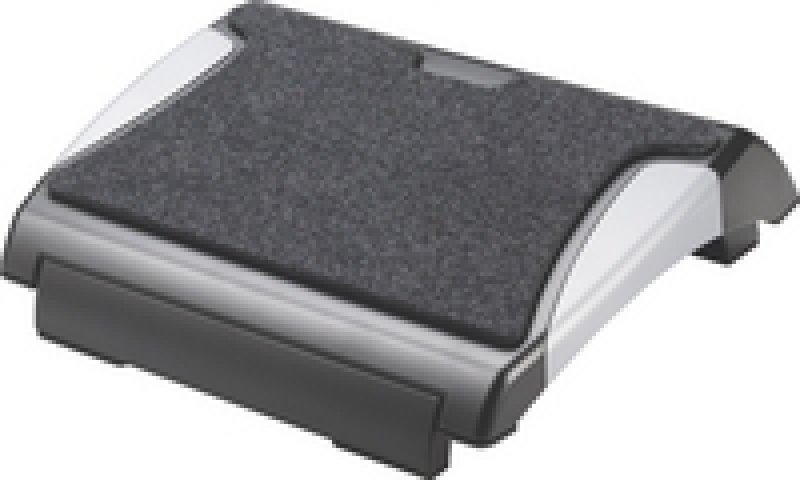 QCONNECT FOOTREST WITH CARPET BLK/SILV