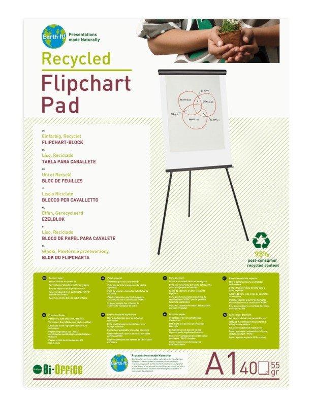 Bioffice A1 Flipchart Pad 40sheets 55gsm  5 Pack