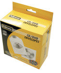 Fellowes CD White Paper Sleeves - 50 Pack