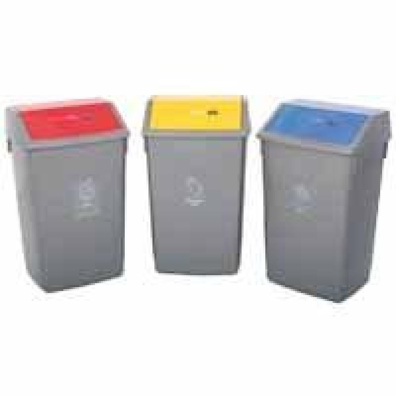 ADDIS RECYCLING BIN KIT LIDS MET PK3