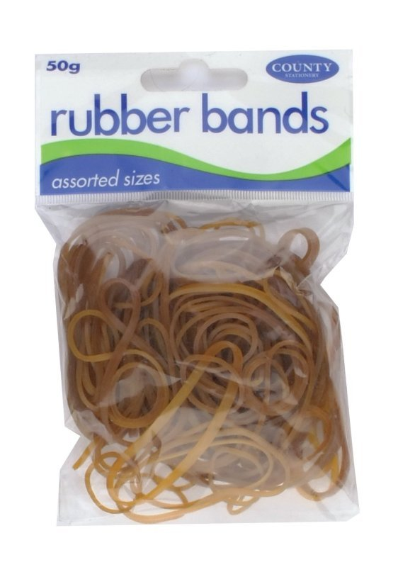 County Rubber Bands Natural 50gm