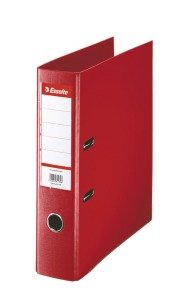 Esselte A4 Pvc Lever Arch 75mm Red - 10 Pack