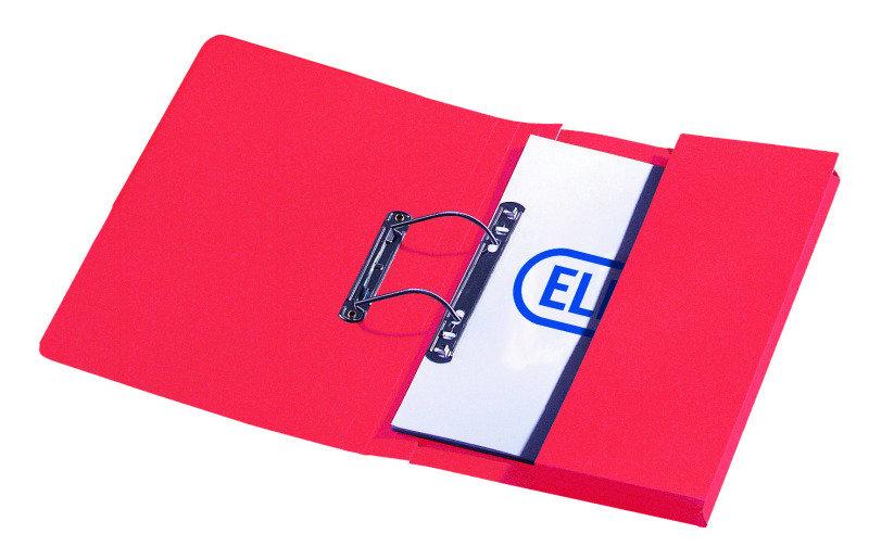 Elba Stratford Spring Pocket File 310gsm Red