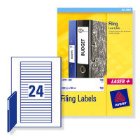 AVERY EUROFOLIO FILE LABEL 25SHT L7170