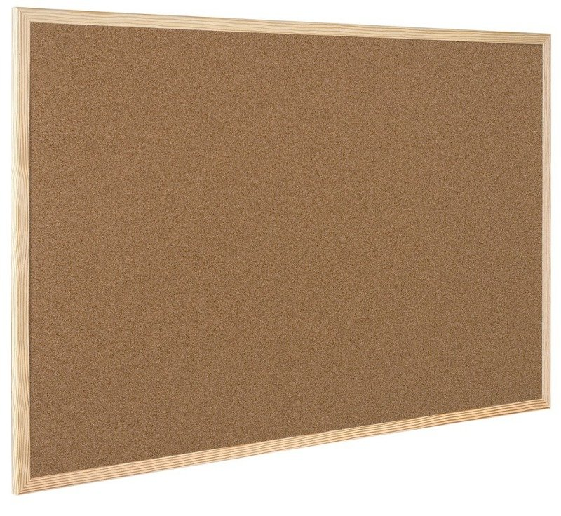 QCONNECT CORK BOARD WOOD FRAME 60X90CM