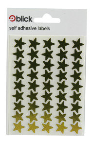 Blick Lbl Metal Star Gld 14mm P135 02535 - 20 Pack