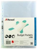 REXEL BUDGET POCKET A4 CLEAR PK100 11000