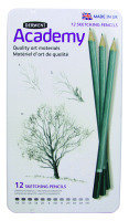 DERWENT ACADEMY SKETCHING PENCILS 12TIN
