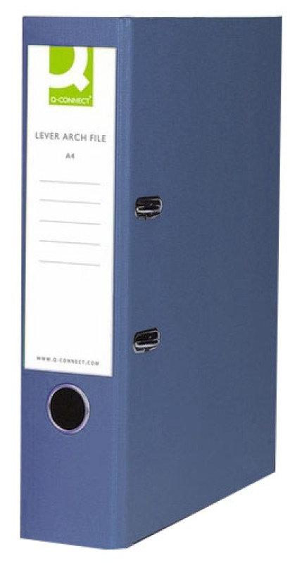 Q Connect Lach File Pprbkd A4 Blu - 10 Pack