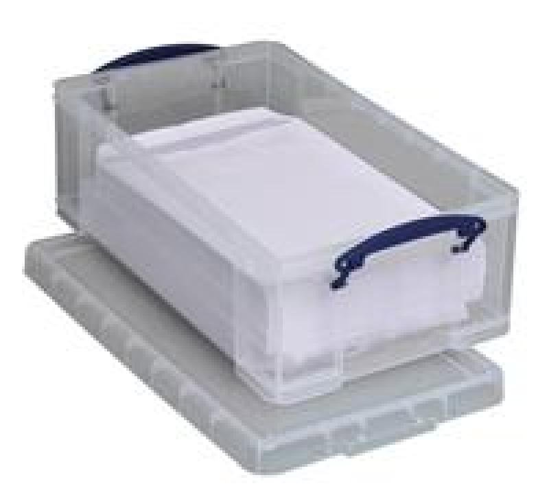 REALLY USEFUL 12L STORAGE BOX CLEAR 12C
