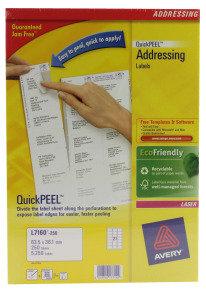 AVERY ADD LBL WHT PK250 L7160-250 FPC