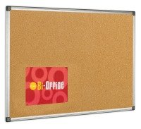 BI OFFICE CORK BOARD 600X900 ALUM FRAME