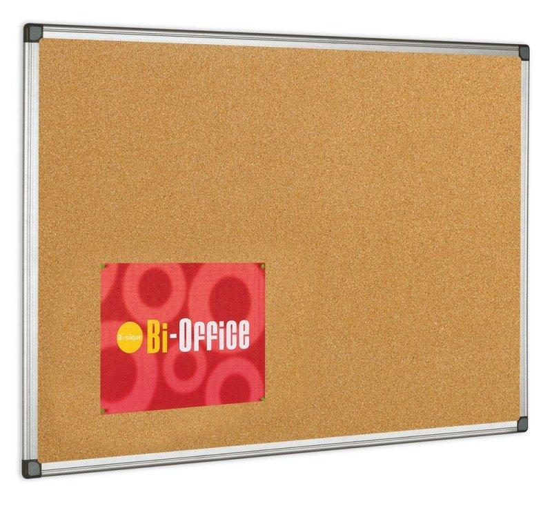 BI OFFICE CORK BOARD 600X900 ALUM FRAME