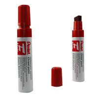 Pentel M180 Jumbo Red Chisel Tip Marker (Pack of 6)