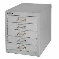 Bisley Multidrawer Non Locking 5 Drawer Cabinet - Grey