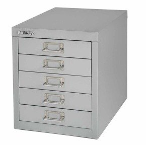 Bisley Multidrawer Non Locking 5 Drawer Cabinet - Grey