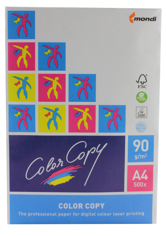 Color Copy A4 Paper 90gsm White (Pack of 500)