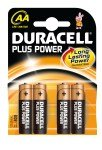 Duracell+ AA Alkaline Battery - 4 Pack