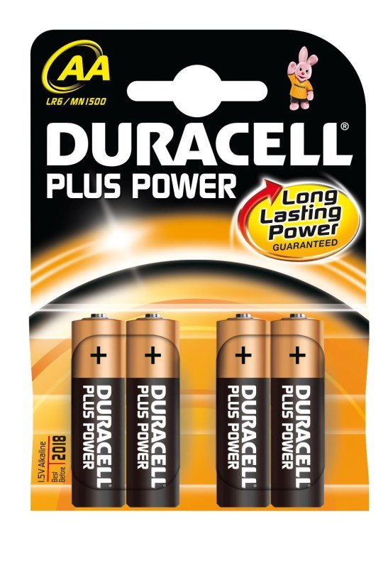 Duracell AA Alkaline Battery  4 Pack