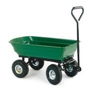Green and Black Dumping Cart - 125 Litre