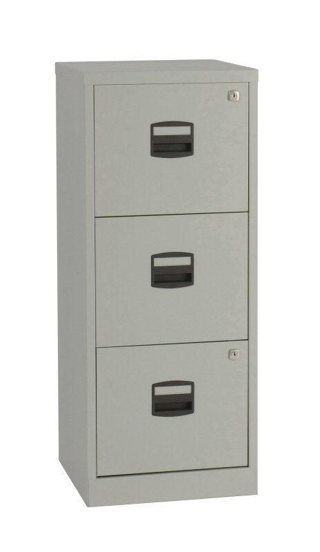 Image of Bisley A4 Personal Filing Cabinet 3 Drawer Grey