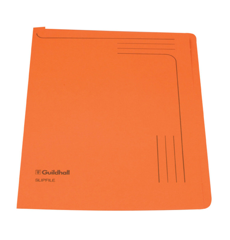 Guildhall Slipfile 12.5x9in Orange 14607 - 50 Pack