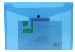 Qconnect Doc Folder Polyprop A4 Blue - 12 Pack