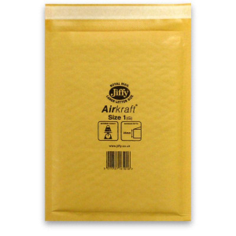 Image of JIFFY AIRKRAFT SIZE 1 GLD MULTI PK10