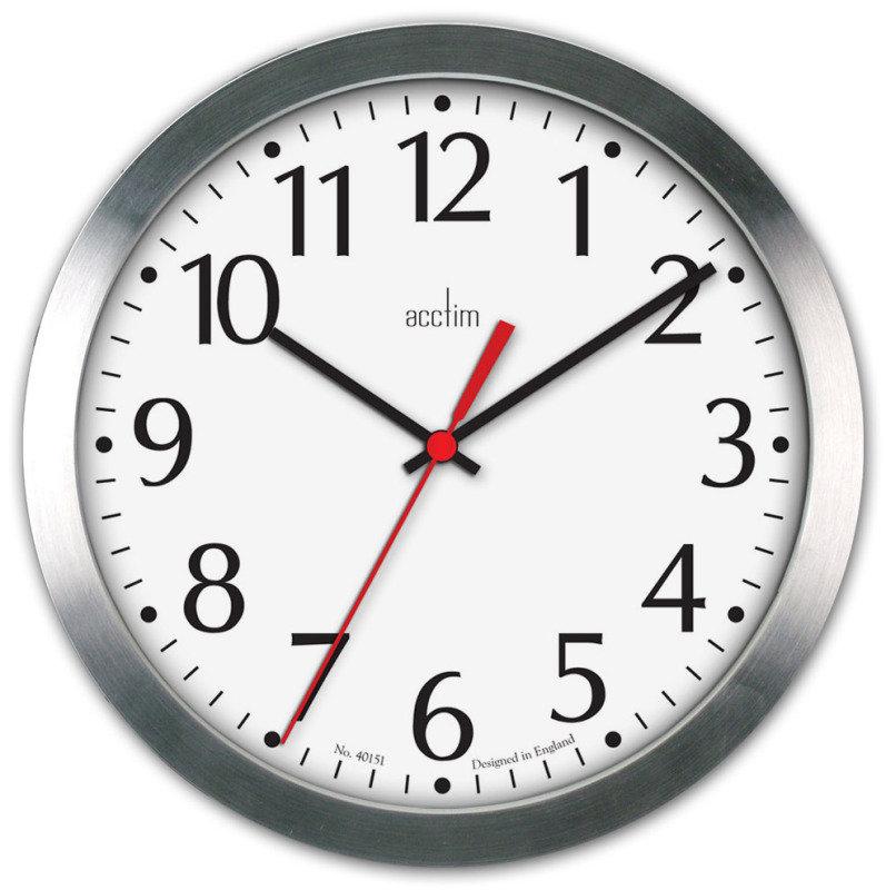Image of ACCTIM JAVIK 10IN ALU WALL CLOCK ALUM