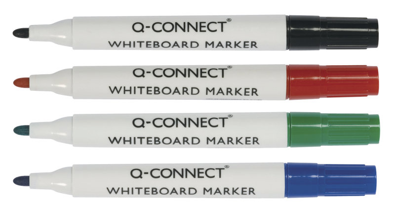 Q CONNECT WHITE BOARD MARKERS ASST PK10
