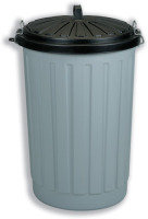 ADDIS DUSTBIN ROUND 90LITRE GREY