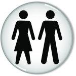 SIGNSLAB 60MM WOMEN and MEN SYMBOL