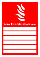 SIGNSLAB A4 297X210 UR FIRE MARSHALS PVC