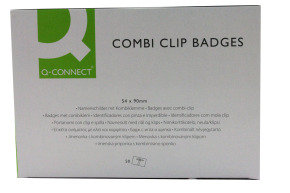 Q CONNECT COMBINATION BADGE 54X90MM PK50