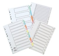 Concord Recycled Indexes A4 1-31 White - 10 Pack
