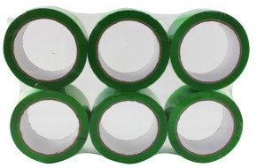 Ambassador 62050665 Polypropylene Tape 50x66mm Green - 6 Pack