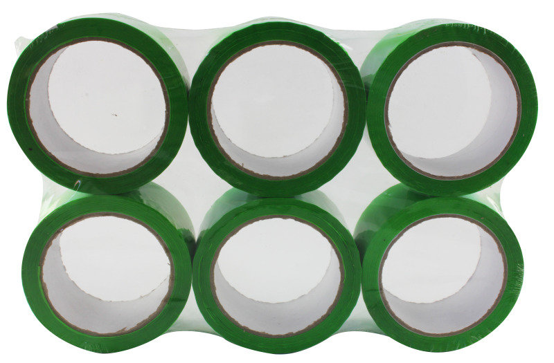 Image of Ambassador 62050665 Polypropylene Tape 50x66mm Green - 6 Pack