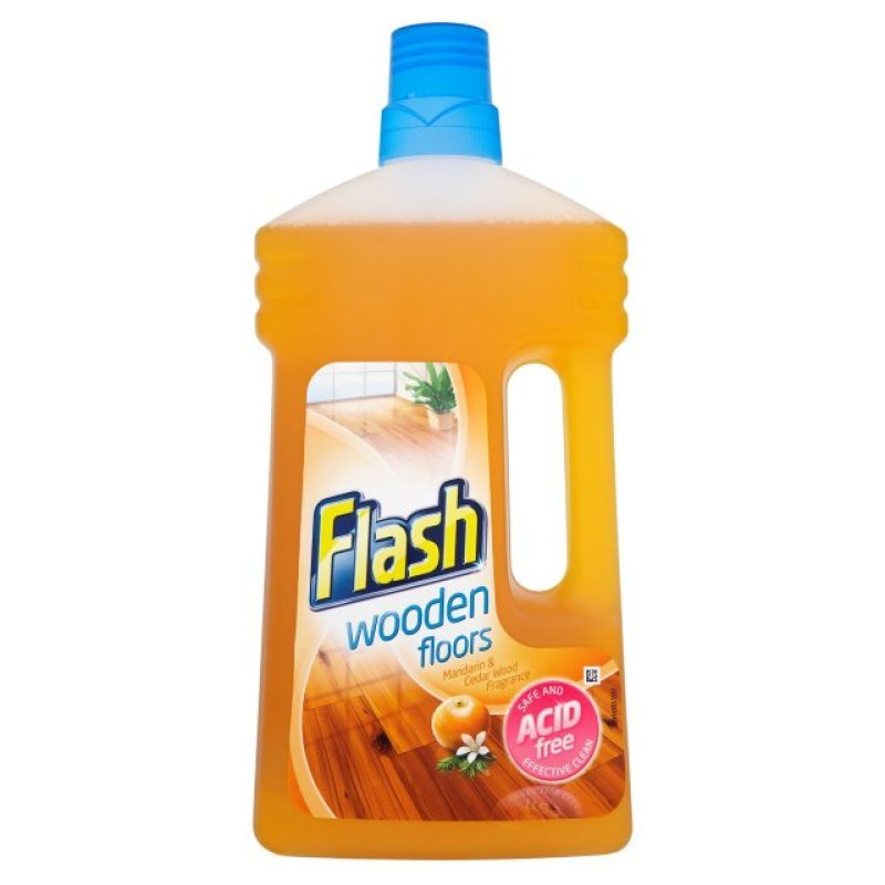 Image of Flash Wooden Floors Cleaner 1 Litre (Pack of 6)