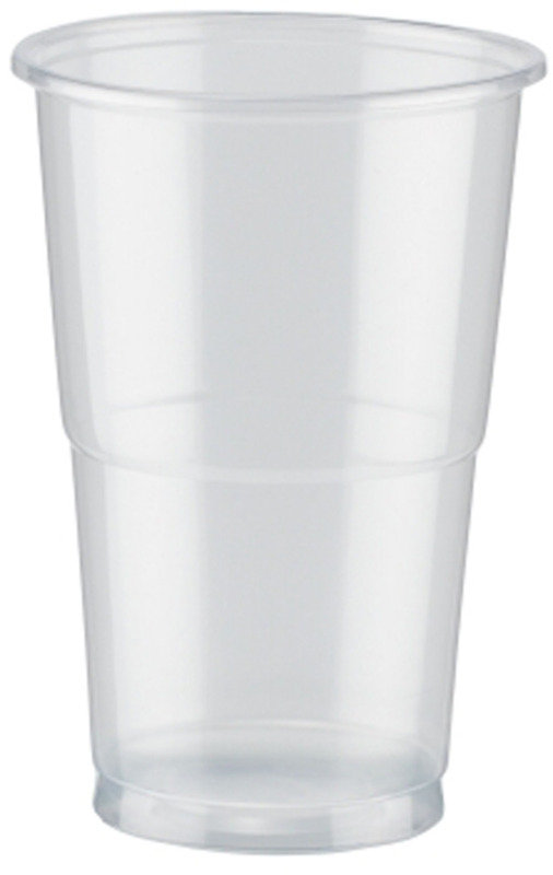 Image of CPD Clear Plastic Half Pint Glass - 50 Pack