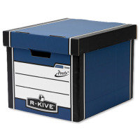 Fellowes R-kive Prm Presto Stbox Blu/wht - 10 Pack