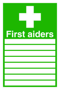 SIGNSLAB 300X200 FIRST AIDERS S/A