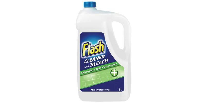 Image of FLASH FLOOR CLEANER WITH BLEACH 5 LITRE