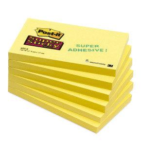 Postit 655 Super Sticky Canary Ylw - 12 Pack