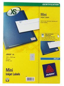 AVERY MINI INKJET LABEL 270LBS/SHT 25SHT