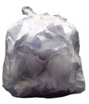2Work Light Duty Refuse Sack Clear (Pack of 200)