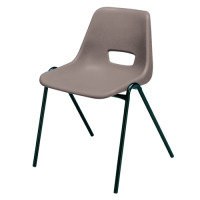 Jemini Plastic PP Stacking Chair - Grey
